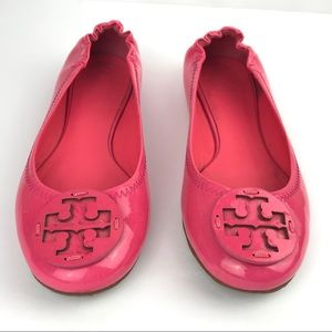 Tory Burch Reva Flats Patent Leather Pink  - 8M